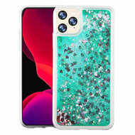 Quicksand Glitter Transparent Case for iPhone 11 Pro - Green