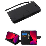 Crossgrain Series Diary Leather Wallet Stand Case for iPhone 11 Pro - Black
