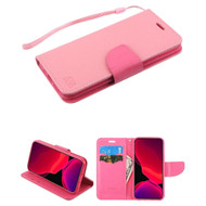 Crossgrain Series Diary Leather Wallet Stand Case for iPhone 11 Pro - Pink