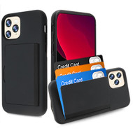 Poket Credit Card Hybrid Armor Case for iPhone 11 Pro - Black