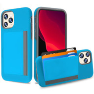 Poket Credit Card Hybrid Armor Case for iPhone 11 Pro - Blue