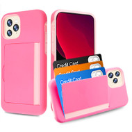 Poket Credit Card Hybrid Armor Case for iPhone 11 Pro - Pink