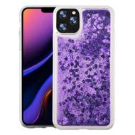 Quicksand Glitter Transparent Case for iPhone 11 Pro Max - Purple