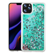 Quicksand Glitter Transparent Case for iPhone 11 Pro Max - Green