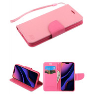Crossgrain Series Diary Leather Wallet Stand Case for iPhone 11 Pro Max - Pink