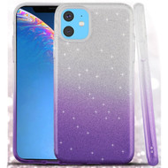 Full Glitter Hybrid Protective Case for iPhone 11 - Gradient Purple