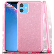 Full Glitter Hybrid Protective Case for iPhone 11 - Pink