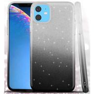 Full Glitter Hybrid Protective Case for iPhone 11 - Gradient Black