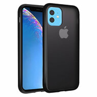 Frost Semi Transparent Hybrid Case for iPhone 11 - Black