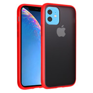 Frost Semi Transparent Hybrid Case for iPhone 11 - Red