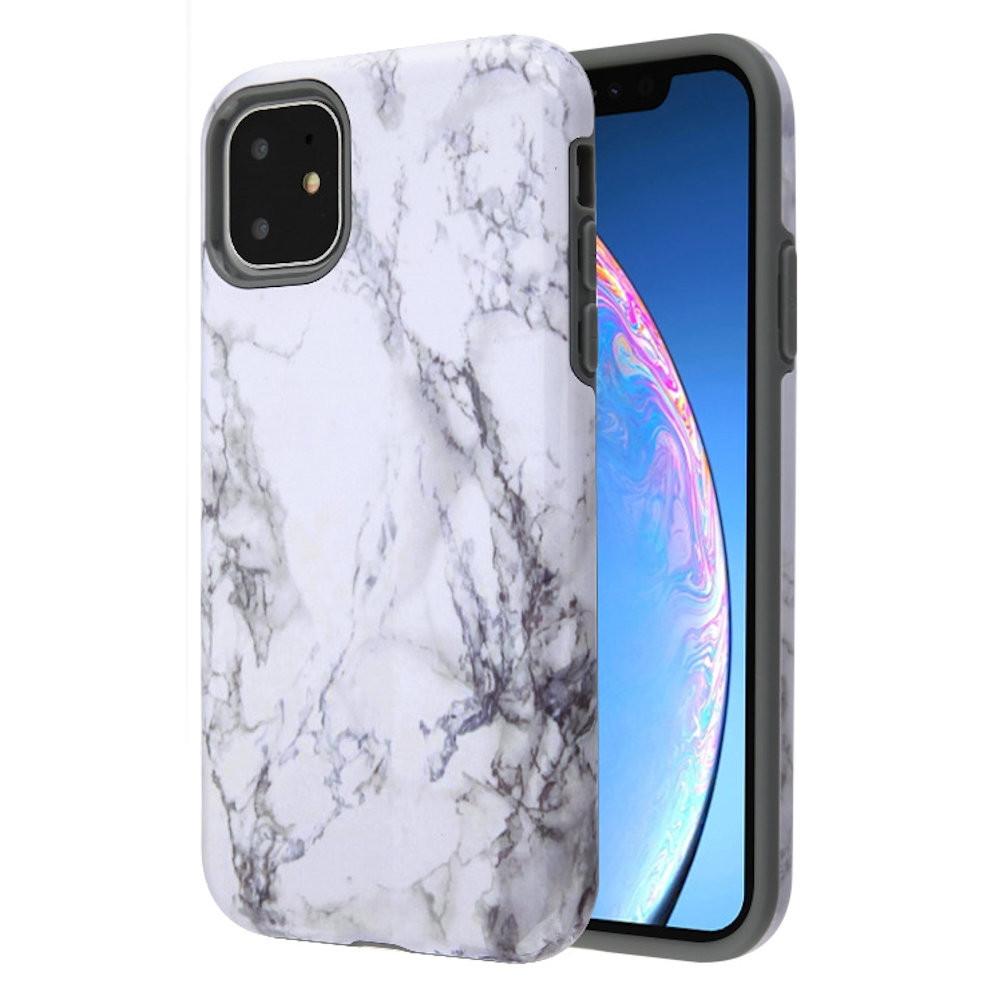 Fuse Slim Armor Hybrid Case for iPhone 11 - Marble White ...