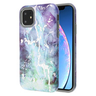 Fuse Slim Armor Hybrid Case for iPhone 11 - Marble Green Purple