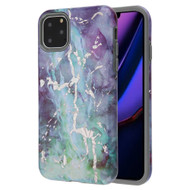 Fuse Slim Armor Hybrid Case for iPhone 11 Pro Max - Marble Green Purple