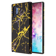 Fuse Slim Armor Hybrid Case for Samsung Galaxy Note 10 Plus - Marble Black Gold