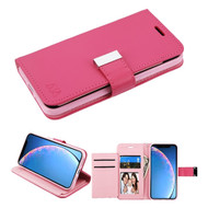 Xtra Series Essential Leather Wallet Stand Case for iPhone 11 - Hot Pink