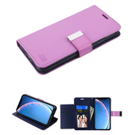 Xtra Series Essential Leather Wallet Stand Case for iPhone 11 - Purple