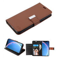Xtra Series Essential Leather Wallet Stand Case for iPhone 11 - Brown