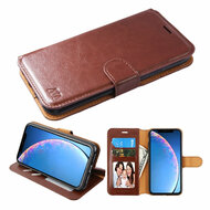 Element Series Book-Style Leather Folio Case for iPhone 11 - Brown