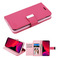 Xtra Series Essential Leather Wallet Stand Case for iPhone 11 Pro - Hot Pink