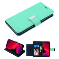 Xtra Series Essential Leather Wallet Stand Case for iPhone 11 Pro - Teal Green