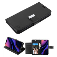 Xtra Series Essential Leather Wallet Stand Case for iPhone 11 Pro Max - Black