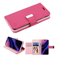 Xtra Series Essential Leather Wallet Stand Case for iPhone 11 Pro Max - Hot Pink