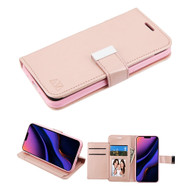 Xtra Series Essential Leather Wallet Stand Case for iPhone 11 Pro Max - Rose Gold