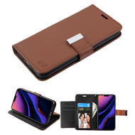 Xtra Series Essential Leather Wallet Stand Case for iPhone 11 Pro Max - Brown