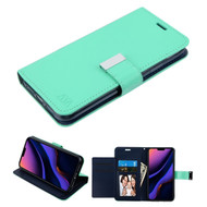 Xtra Series Essential Leather Wallet Stand Case for iPhone 11 Pro Max - Teal Green