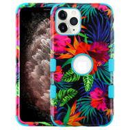 Military Grade Certified TUFF Hybrid Armor Case for iPhone 11 Pro Max - Electric Hibiscus