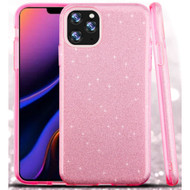 Full Glitter Hybrid Protective Case for iPhone 11 Pro Max - Pink