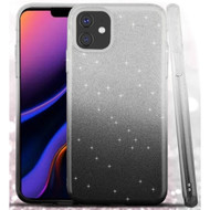 Full Glitter Hybrid Protective Case for iPhone 11 Pro Max - Gradient Black