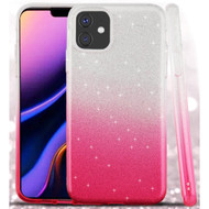 Full Glitter Hybrid Protective Case for iPhone 11 Pro Max - Gradient Hot Pink