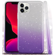 Full Glitter Hybrid Protective Case for iPhone 11 Pro - Gradient Purple