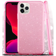 Full Glitter Hybrid Protective Case for iPhone 11 Pro - Pink