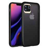 Frost Semi Transparent Hybrid Case for iPhone 11 Pro Max - Black