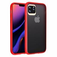 Frost Semi Transparent Hybrid Case for iPhone 11 Pro Max - Red