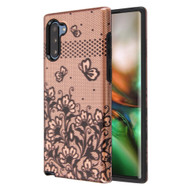Fuse Slim Armor Hybrid Case for Samsung Galaxy Note 10 - Lace Flowers Rose Gold
