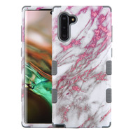 Military Grade Certified TUFF Hybrid Armor Case for Samsung Galaxy Note 10 - Marble Pink