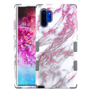 Military Grade Certified TUFF Hybrid Armor Case for Samsung Galaxy Note 10 Plus - Marble Pink