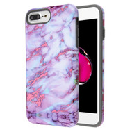 Fuse Slim Armor Hybrid Case for iPhone 8 Plus / 7 Plus / 6S Plus / 6 Plus - Marble Wine