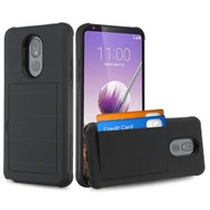 Stash Credit Card Hybrid Armor Case for LG Stylo 5 - Black