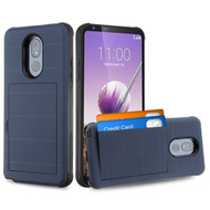 Stash Credit Card Hybrid Armor Case for LG Stylo 5 - Navy Blue