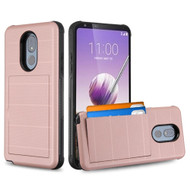 Stash Credit Card Hybrid Armor Case for LG Stylo 5 - Rose Gold