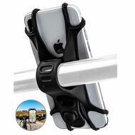 Silicone Web Bicycle Handlebar Phone Mount - Black