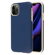 Fuse Slim Armor Hybrid Case for iPhone 11 Pro Max - Navy Blue Gold