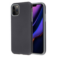 Carbon Fiber Hybrid Case for iPhone 11 Pro Max - Black