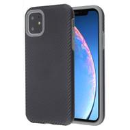 Carbon Fiber Hybrid Case for iPhone 11 - Black