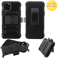 Advanced Armor Hybrid Kickstand Case with Holster Belt Clip for iPhone 11 Pro Max - Black 221