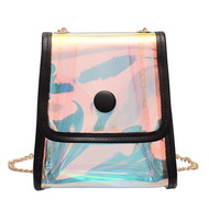 Iridescent Stadium Crossbody Bag - Black